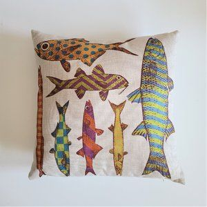 Cushion pillow with fish.